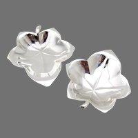 Tiffany Ivy Leaf Form Nut Cups Pair Sterling Silver