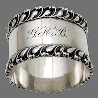 Victoria Napkin Ring Shiebler Sterling Silver 1894 Mono GHB