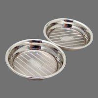 Engine Turned Nut Cups Pair Webster Sterling Silver No Mono