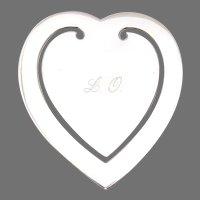 Heart Form Bookmark Italian 800 Silver Mono LO