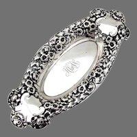 Ornate Repousse Pin Tray Gorham Sterling Silver 1903 Mono HV an W