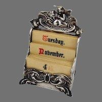 Loves Dream Calendar Unger Bros Sterling Silver 1904