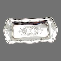 Engraved Pin Tray Sweetser Sterling Silver 1910 Mono C