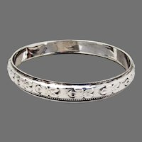 Floral Coaster Sterling Silver Edward San Giovanni 1940s