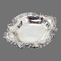 Burgundy Candy Bowl Reed Barton Sterling Silver 1956 Date Mark