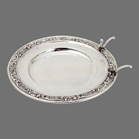 Rose And Scroll Butter Plate Knife Rest Gorham Sterling Silver