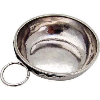 French Taste Vin Ring Handle Sterling Silver Mono Rene Babonneau L