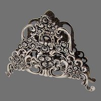 Openwork Rose Scroll Napkin Holder 835 Silver
