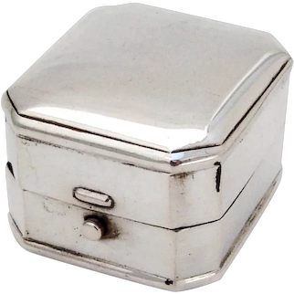 Birks Ring Box Sterling Silver Canada No Mono