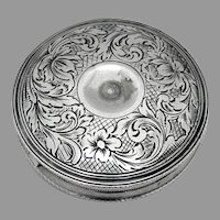 Round Floral Peppermint Box Dutch 833 Silver 1900