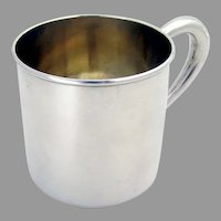 Lunt Baby Cup Hollow Handle Gilt Interior Sterling Silver No Mono