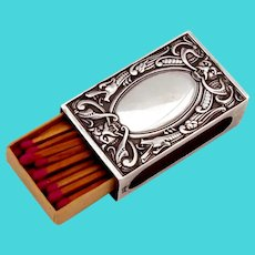 Celtic Dragon Match Box Cover 830 Standard Silver