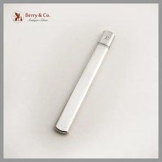 Plain Design Needle Pencil Case Sterling Silver Mono P