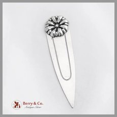 Flower Bookmark Napier Sterling Silver