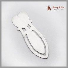 Cutwork Heart Motif Bookmark Lunt Sterling Silver