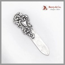Ornate Repousse Bookmark La Pierre Sterling Silver
