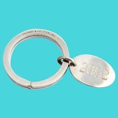 Tiffany Key Chain 2002 Medallion Sterling Silver