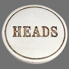 Tiffany Coin Heads And Tails Embossed Sterling Silver
