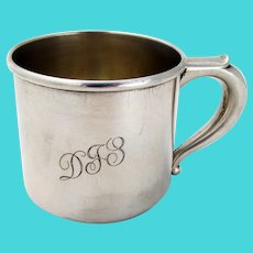 Baby Cup Wallace Sterling Silver Mono DJS