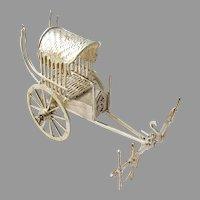 Rickshaw Figurine Sterling Silver