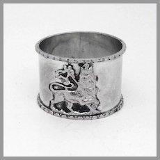 Lion Of Judah Napkin Ring Sterling Silver