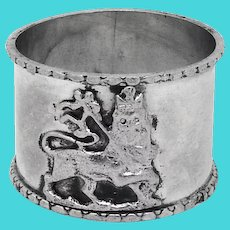Lion Of Judah Napkin Ring Sterling Silver