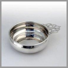 Webster Porringer Baby Bowl Keyhole Handle Sterling Silver No Mono