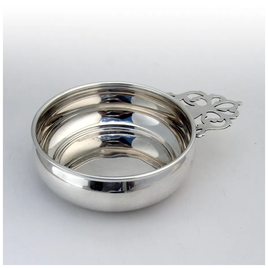 Webster Porringer Baby Bowl Keyhole Handle Sterling Silver No Mono Berry Company Antique Silver Ruby Lane