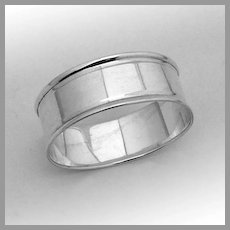 English Napkin Ring Sterling Silver Chester No Mono