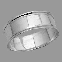 English Napkin Ring Sterling Silver Chester No Mono