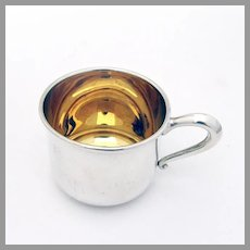 Baby Childs Cup Gilt Interior Web Sterling Silver No Mono