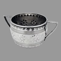 Double Handle Sugar Bowl Sterling Silver Dominick Haff 1885
