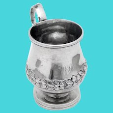 Antique Small Floral Cup Kirk Coin Silver 1840 Mono WAM