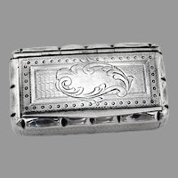 French Snuff Box Sterling Silver Adolphe Frontin Paris 1890
