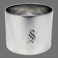 Heavy Plain Napkin Ring Reed Barton Sterling Silver Mono S