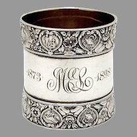 Zodiac Napkin Ring Gorham Sterling Silver Mono MEL