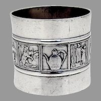 Mother Goose Nursery Rhyme Napkin Ring Gorham Sterling Silver 1882