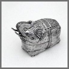 Elephant Form Box 900 Silver