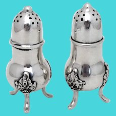 Norwegian Footed Salt Pepper Shakers Set Th Marthinsen 830 Silver