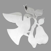 Dove With Branch Christmas Ornament James Avery Sterling Silver