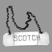 Scotch Bottle Tag Label Sterling Silver Randahl