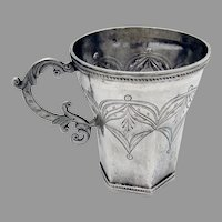 Spanish Colonial Silver Mug Cup Late 18th Century