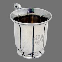 Victorian English Christening Cup Sterling Silver 1857 Mono