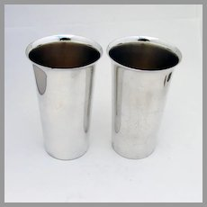 Tall Cups Pair Preisner Sterling Silver No Mono