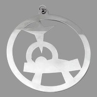 Christ In Manger Christmas Ornament James Avery Sterling Silver
