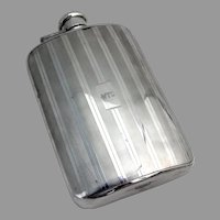 Tiffany Art Deco Style Flask Sterling Silver 1930 Mono WTO