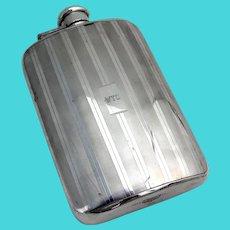 Tiffany Art Deco Style Flask Sterling Silver 1930 Mono WTO
