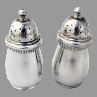 Tiffany English Salt Pepper Shakers Set Sterling Silver 1978