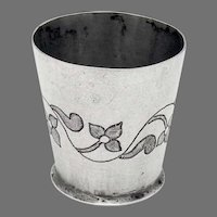 Spanish Colonial Shot Cup 900 Silver Floral Vine Design