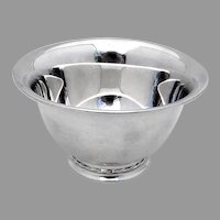 Silver Flutes Mayonnaise Bowl Towle Sterling Silver 1941